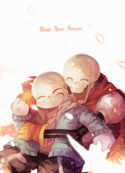 Sans and Papyrus by caphricina