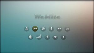 Weblite. Browser Shortcuts [Rainmeter Skin] by jlynnxx
