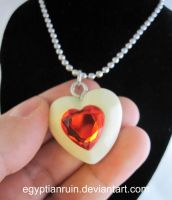 Glow in the Dark Heart Container Necklace by egyptianruin