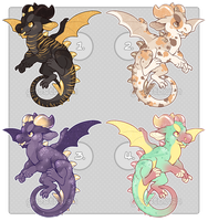 Little Dragons Set Price - 1/4 OPEN by ghostblush