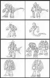 Eight new bosses sketch by TargonRedDragon