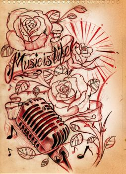 Music is life Sketch by WillemXSM