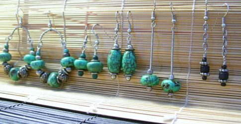 Assorted Turquoise Earrings by Nyrak