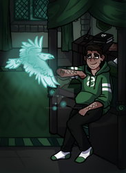 Slytherin and Patronus by casual-pancakes