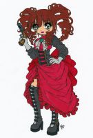 Steampunk Girl Colored by Maiko-Girl