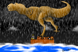 Dinosaur on the Ark by KorianderBullard