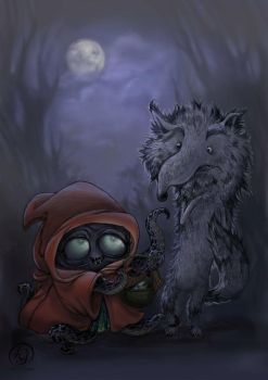 Bad Wolf Meets Little Red by Hahnsel