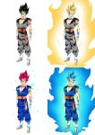 Dragon Ball Super - Forms of Vegito by moxie2D