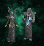 Druid and Priest Statue Set- Archeology by Tilpion
