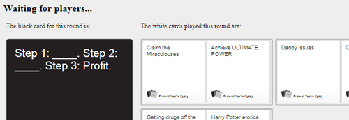 Cards against Humanity describes Hawkmoth by Ipku