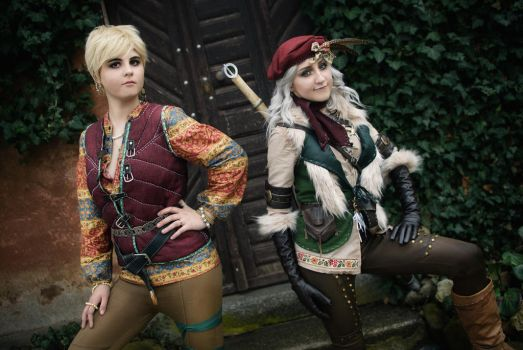 Falka(Ciri)and Mistle from the Witcher book series by Juriet