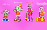 The Four Faces of Amy Rose by dwaters220