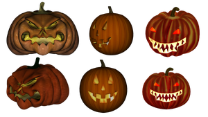 Jack-o-lanterns by Nolamom3507