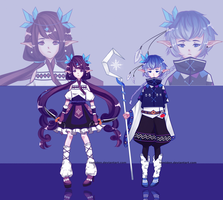 [ADOPT 54-55][SET PRICE][CLOSED] TWIN ELVES by tomiden