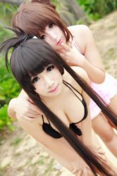 K-On! Swimsuit - Mio Yui by Xeno-Photography