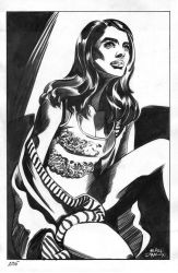 Seated Woman by InkWorthy