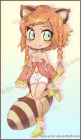 Adoptable Raccoon Girl 1 :CLOSED: by bibi-chan