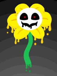 Melting Flowey by Zippy1Lovely