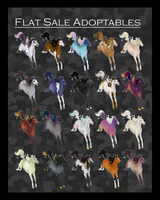 (REDUCED) Adoptables - FLAT DESIGN SALE by Bright-Button