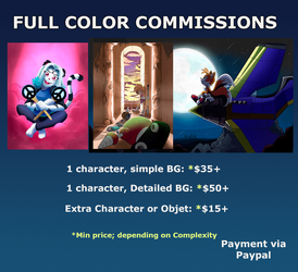 FULL COLOR COMMISSION OPEN (2 slots) by gabs94
