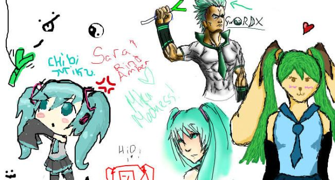 Miku Madness iscribble by swordofdeath