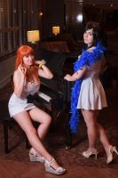 Nami and Nico Robin Film Gold One Piece Cosplay by firecloak