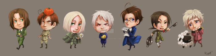 Hetalia Stickers SET 2 by oneoftwo