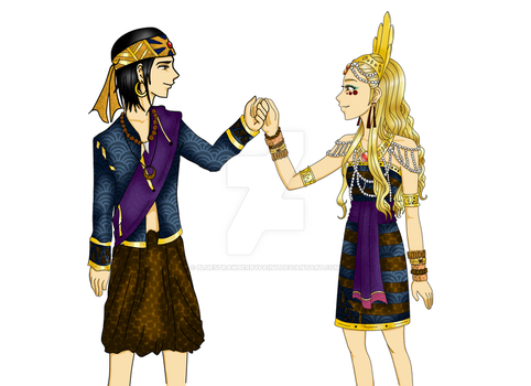 Datu Paubari and Goddess Alunsina by bluestrawberrypaint