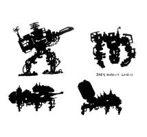 Mech Shadows by bmkorkut
