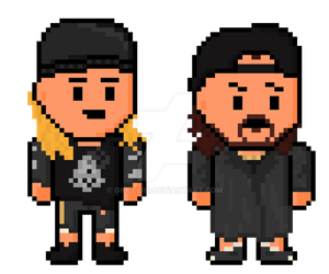 Mallrats Pixel Jay and Silent Bob by gkillerb