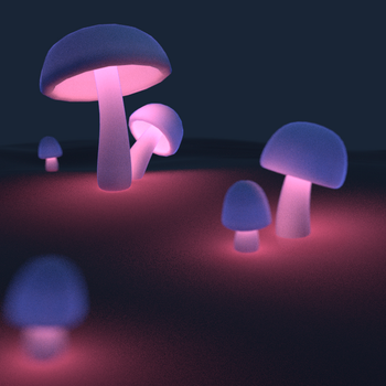 Glowing shroom by tintotet