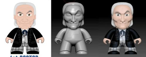 Doctor Who Titan Digital sculpting test