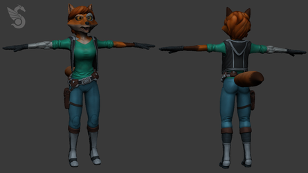 Techno-Fox Character Design by Spacer176