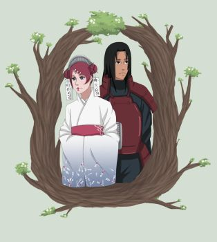 Hashirama and Mito by Chloeeh