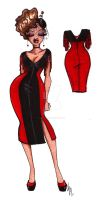 Widowed Vamp Dress by SankofaRida