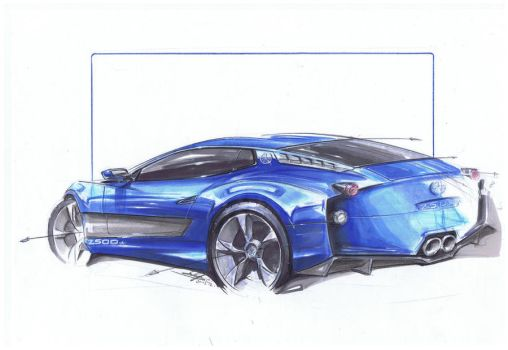 ATS 2500gt. Back to basics. Markers and coloured p by KingEagle