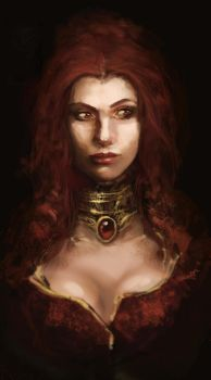 The Red Woman by LeksaArt