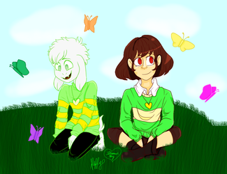 Undertale Collab - Butterfly Gardens by fluffysam1212