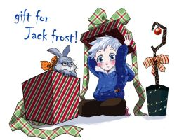 ROTG:Chibi Jack Frost and Bunny by yiulove