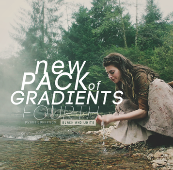 Pack #4 with black and white gradients by art-psds-junk