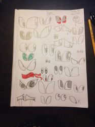 Different drawings of Eyes by Riyana2