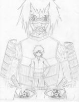 Nidaime Uchiha Madara with Susanoo Uncolored by Yang-Kudo