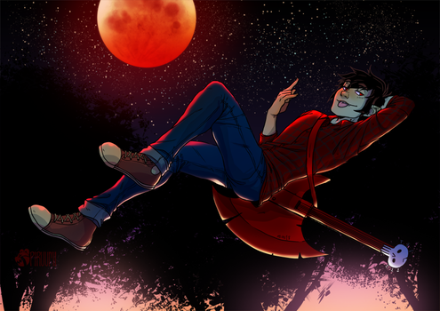 [[FAN ART]] Marshall Lee by PiruuMi