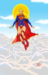 Supergirl in the cloulds 2018 by kwill916