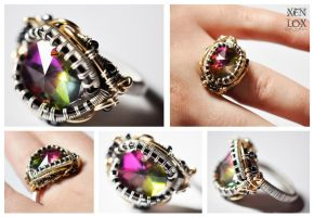 Rainbow Crystal Ring by XenOhm