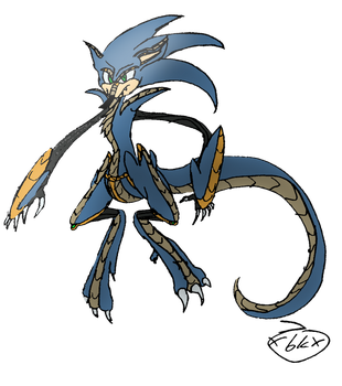 Draconian Sanic (didnt really want to upload this) by XBlack-KittyX
