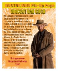 DOCTOR WHO Pin-Up Page 41:Vincent Van Gogh by tyrannus1