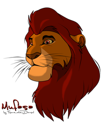 Canon: Mufasa as Teen by Tsera-aka-Dorsel