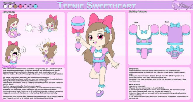Teeny Sweetheart Reference Sheet by NowiGreen