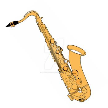Saxophone Vector Stamp by MHuang51491